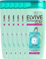 L'Oréal Paris Elvive Extraordinary Clay Shampoo - 6x 250ml - Voordeelverpakking