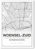 Poster/plattegrond WOENSEL-ZUID - A4