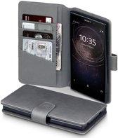Sony Xperia L2 hoesje - CaseBoutique - Grijs - Leer