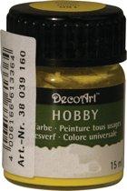 Hobby acrylverf geel 15 ml