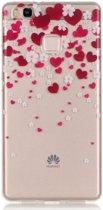 Huawei P9 Lite TPU Hoesje met Hart Print
