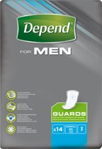 Depend For Men Guards Verband voor incontinentie en urineverlies - 56 stuks