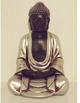 Japanse Boeddha zwart zilver 24 cm | GerichteKeuze