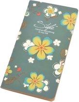 Notitieboekje met bloemen – Groenblauw