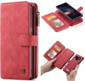 CASEME Samsung Galaxy Note 9 Retro Portemonnee Hoesje - Rood