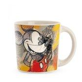 Disney Mug Mickey Color Fun Ivory Red ML 390