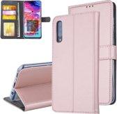 Pasjeshouder Rose Gold Book Case voor Samsung Galaxy A70 -Magneetsluiting - Kunstleer