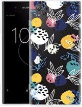 Sony Xperia XA1 Plus Hoesje Abstract Flowers