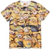 Minions-T-shirt-met-korte-mouw-geel-maat-128