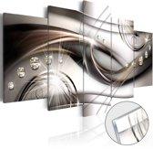 Afbeelding op acrylglas - Parels, Bruin,   5luik