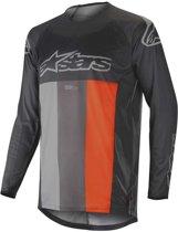 Alpinestars Crossshirt Techstar Venom Anthracite/Gray/Fluor Orange-XL