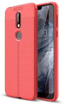 Just in Case Nokia 7.1 Back Cover Soft TPU Rood