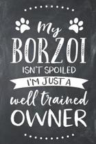 My Borzoi Isn't Spoiled I'm Just a Well Trained Owner