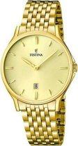 Festina F16746/2 Klassiek - Horloge- Staal - Zilverkleurig - 39 mm