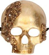 Luxe gouden schedel masker Teschio Rose
