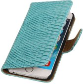 iPhone 6 Turquiose   Snake bookstyle / book case/ wallet case Hoes    WN™