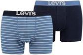 Levi's 2-pack boxershort vintage stripe- lichtblauw