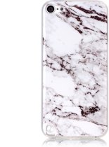 GadgetBay Wit iPod Touch 5 6 marmer TPU hoesje marble case