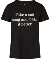 The Analogues Take a sad song T-shirt ladies fit