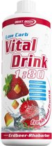Best body nutrition Low Carb Vital Drink - 1000 ml - Raspberry