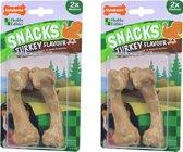 Nylabone gezonde harde snack kalkoen M per 2 verpakkingen