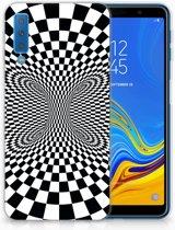 Samsung Galaxy A7 (2018) Siliconen Backcase Design Illusie