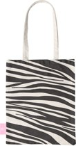 BEACHLANE - Katoenen tasje - Canvas Tote Bag Shopper - Zebra print - Schoudertas / Boodschappen tas