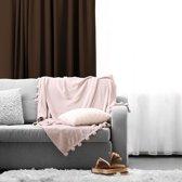 Gordijnen | Bruin | Verduisterend & Geluidswerend | Haken | 100% Polyester | 150 x 250 cm