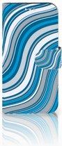 Samsung Galaxy S7 Boekhoesje Design Waves Blue