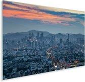 Schitterende kleuren in de lucht boven Suzhou Plexiglas 30x20 cm - klein - Foto print op Glas (Plexiglas wanddecoratie)
