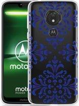 Moto G7 Power Hoesje Delfts Blauw