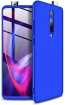 Teleplus Xiaomi Mi9T Case 360 Ays Hard Rubber Cover Blue + Nano Screen Protector hoesje