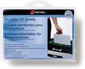 Rexel Olie Bladen Onderhoud Papierversnipperaar 20 stuks