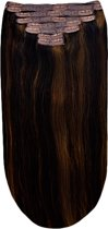 Remy Human Hair extensions Double Weft straight 22 - bruin 2/6#