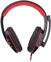 Gaming Headset Stereo Hoofdtelefoon met Microfoon - Luidspreker 40mm - Zwart/Rood