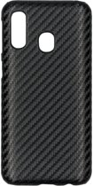 Carbon Hardcase Backcover Samsung Galaxy A40 hoesje - Zwart