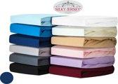 Silky Jersey - Zachte Jersey Hoeslakens 100% Katoen - 90x200x30 Marineblauw