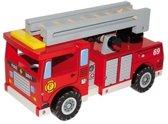Base Toys Houten Brandweerauto met Toebehoren