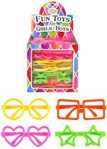 Uitdeelcadeautjes - Kinder Fun / Feest Brillen in Traktatiebox | Traktatie Feestbrillen (26 Stuks)