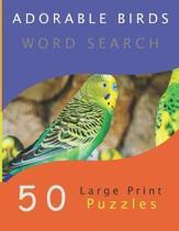 Adorable Birds Word Search