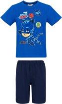 PJ-Masks-Pyjama-met-korte-mouw-blauw - Maat 104