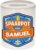 Kinder spaarpot voor Samuel - keramiek - naam spaarpotten