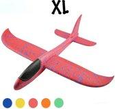 Zweefvliegtuig wegwerp rood  XL   extra groot   speelgoed vliegtuig   vliegtuig kinderen   vliegtuig speelgoed piepschuim