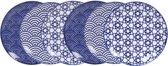 Tokyo Design Studio Nippon Blue Bord Ø 16 cm. Set van 6 stuks