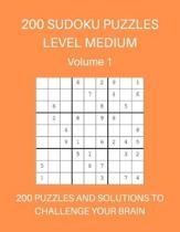200 Sudoku Puzzles Level Medium Volume 1