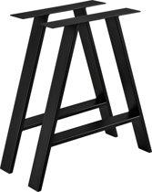 [en.casa] Stalen A - tafelpoot - meubelpoot 70x10x72 zwart