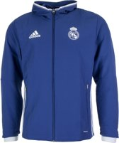 adidas Real pres trainings jas Trainingsjas - Maat M  - Mannen - blauw/wit