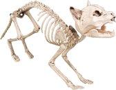 Kat skelet decoratie - Feestdecoratievoorwerp