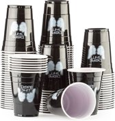 100 Black Cups Dope Design - Zwarte Party Bekers dubbelzijdig bedrukt 500ml - Original Beer Pong