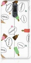 Book Case Huawei Mate 10 Lite Hoesje Design IJsjes